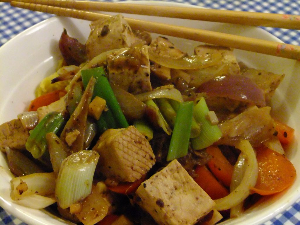 Classic tofu, chicken or beef stir fry
